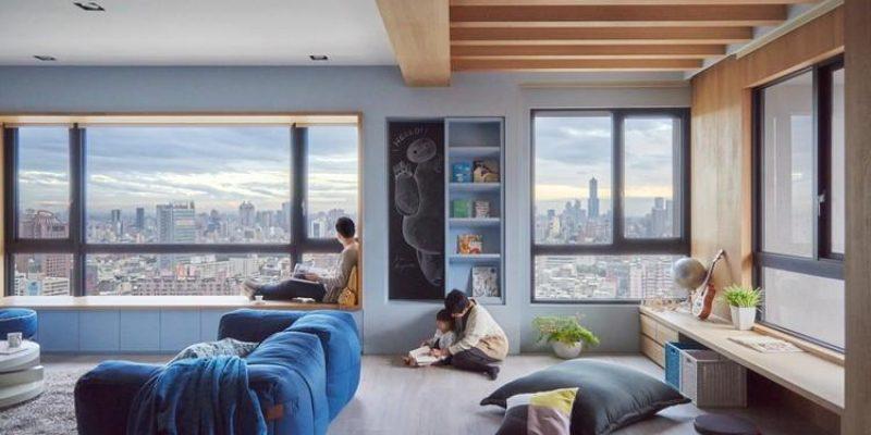 طراحی داخلی خانه ای دلچسب به رنگ آبی / استودیو طراحی HAO