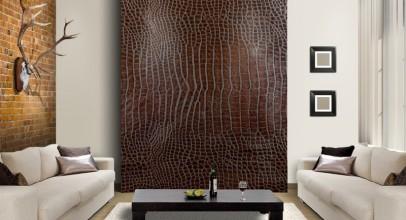 کاغذ دیواری پوست ماری در طراحی دکوراسیون داخلی
