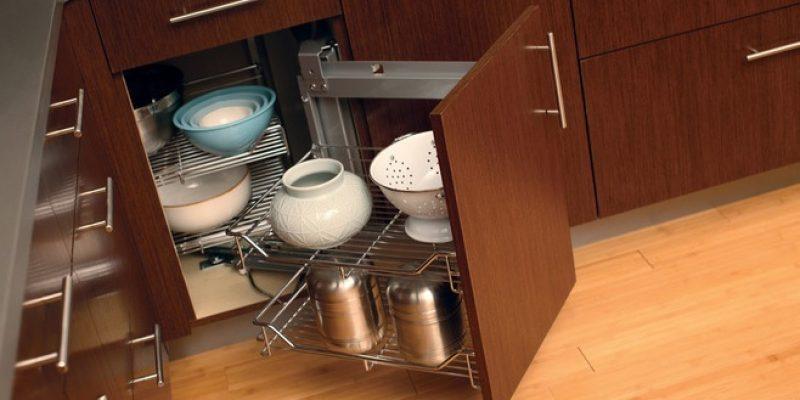 کابینت گوشه ؛ راهحلهایی هوشمندانه برای استفاده از کابینت گوشه در آشپزخانه