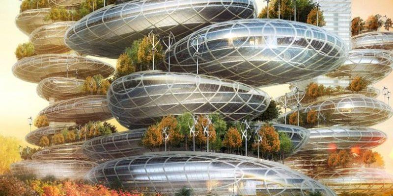 زمین های کشاورزی در برج ها ؛ شرکت معماری callebaut : تلهای سنگی آسیایی ، شنزن ، چین
