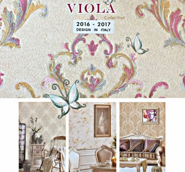 کاغذدیواری ویولا VIOLA    دکوراسیون داخلی پویانو