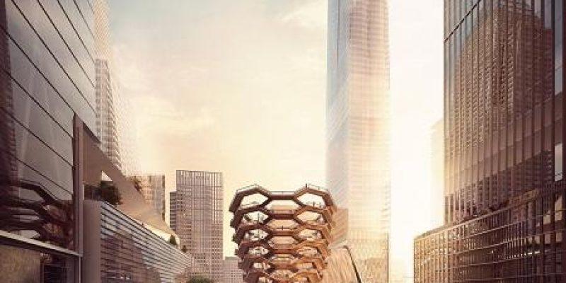 """فرم راه پله های بی پایان در هوستون یاردز ، در نیویورکتوسط شرکت معماری """" وسل"""" استودیوی هیترویک (Heatherwick Studio)"""