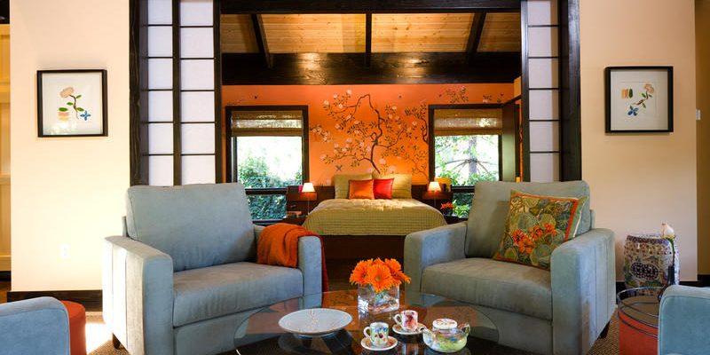۸ طراحی اتاق پذیرایی به سبک ژاپنی