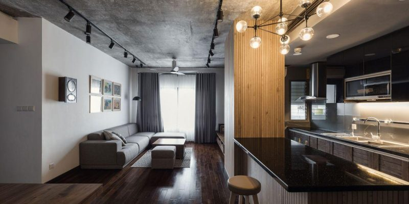 بازسازی آپارتمان کوچک نوستالژیک مناسب یک خانواده