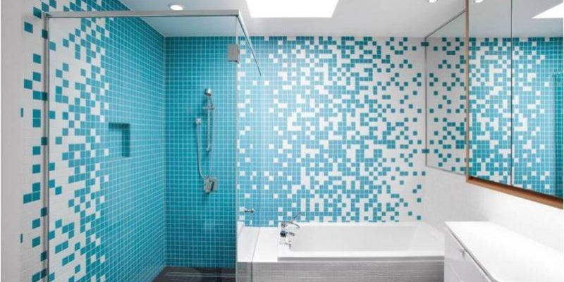 دکوراسیون داخلی حمام با رنگ آبی