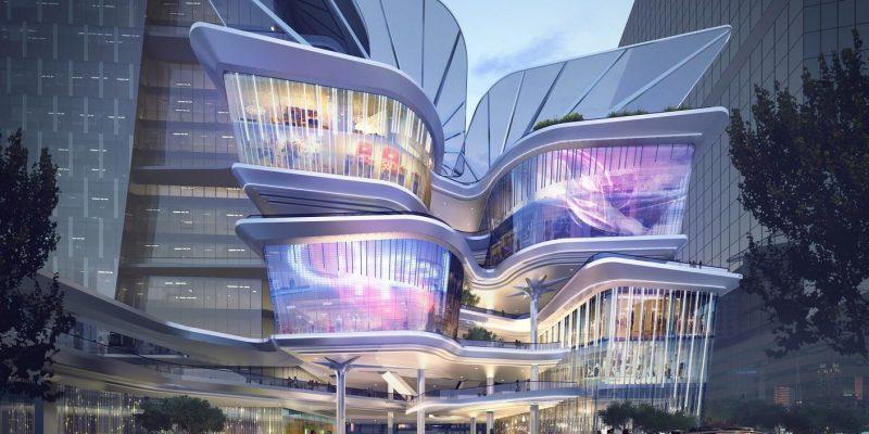 معماری جدید و پویا از مرکز تجارت Shenzhen Luoho در چین