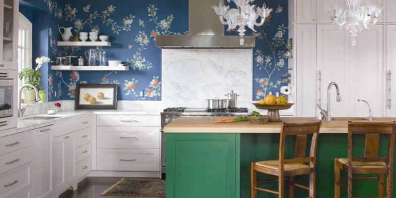 کاغذ دیواری بین کابینتی ، راهی کم هزینه و آسان برای تغییر آشپزخانه