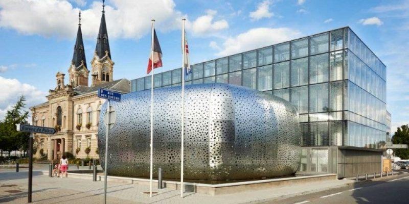 پوسته ی فولادی ساختمان سالن شهر در فرانسه