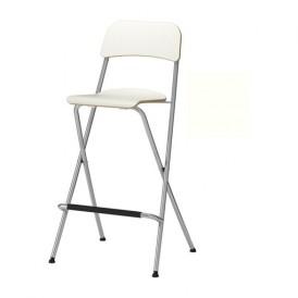 صندلی بار سفید ایکیا مدل FRANKLIN