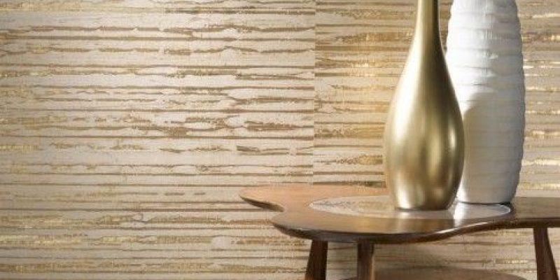 مدل کاغذ دیواری طلایی در دکوراسیون داخلی