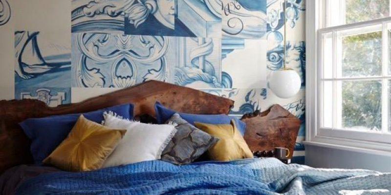 ۷ روش استفاده از رنگ آبی برای تغییر فضای اتاق خواب