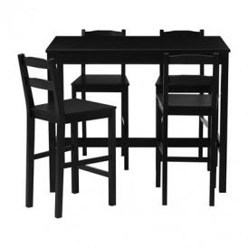 میز و صندلی بار ۴ نفره قهوه ای سوخته ایکیا JOKKMOKK