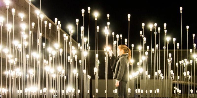 تاسیسات نوری در مرکز فرهنگی شهر لیسبون