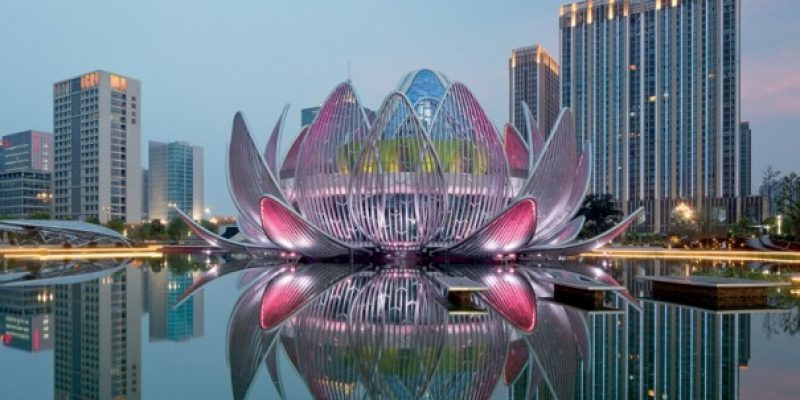 ساختمان نیلوفر آبی در چین