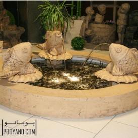 آبنمای مجسمه ای مدل سه ماهی