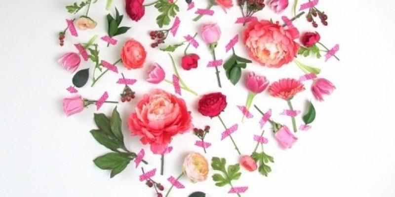 هنر دیواری با استفاد از گل در دکوراسیون خانه، ویژه روز ولنتاین