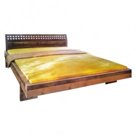 تخت خواب دو نفره چوبی مدل Solendo