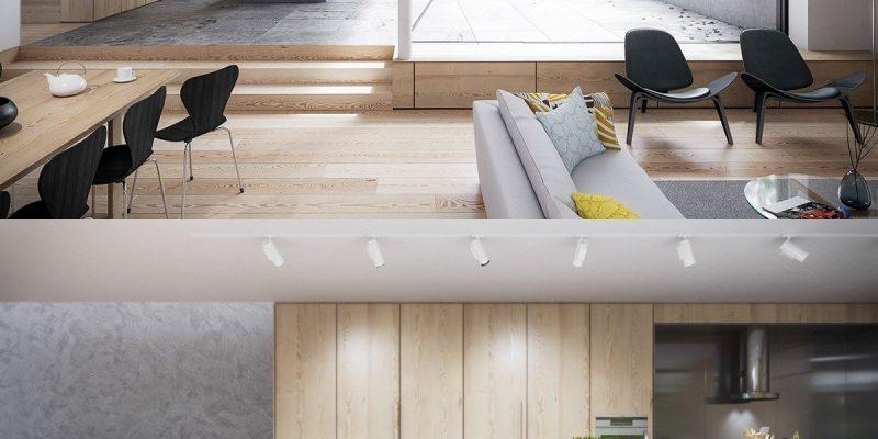 ۲۵ ایده برای دکوراسیون آشپزخانه های چوبی و سفید (قسمت اول)
