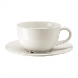 فنجان قهوه خوری با نعلبکی سفید ایکیا مدل VARDAGEN