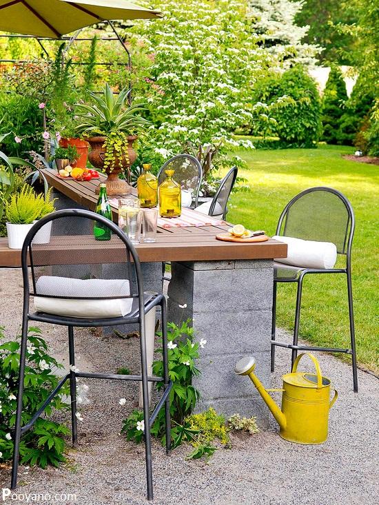 تزئین حیاط و باغچه