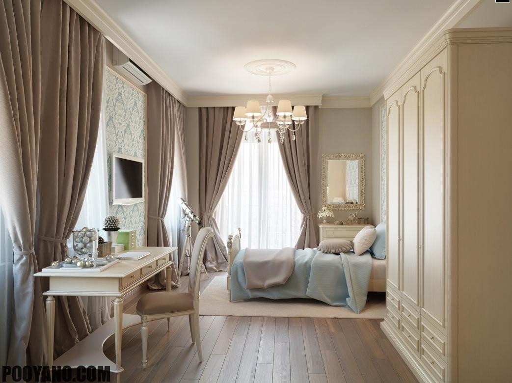 سایت پویانو-رنگ خاکستری در اتاق خواب