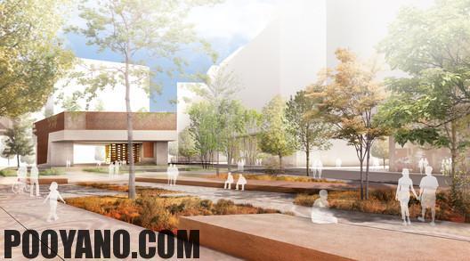 سایت پویانو-طرح پیشنهادی کتابخانه و پلازای شهری
