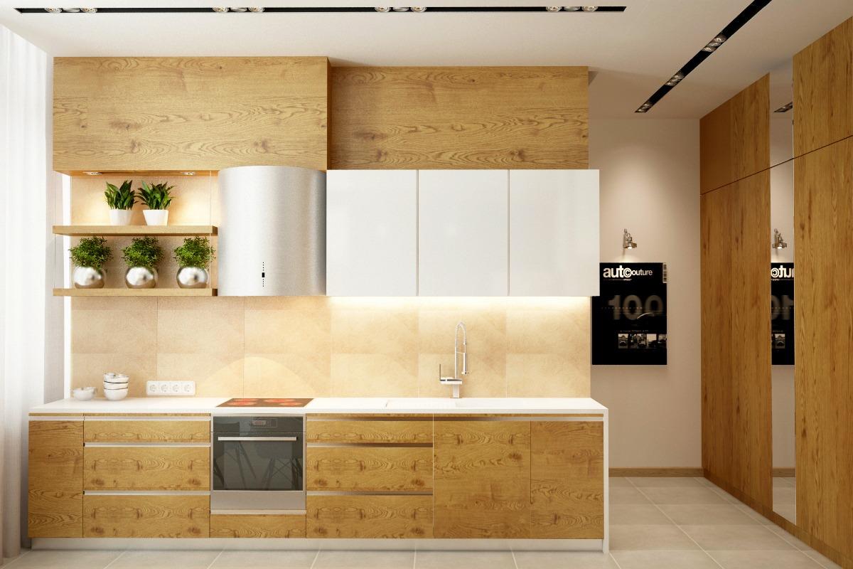 سایت پویانو- ایده هایی برای اشپزخانه های سفید و چوبی