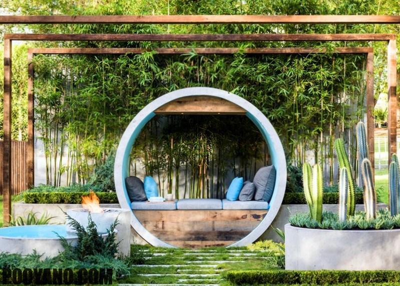 سایت پویانو- طراحی منظر فضای سبز باغجه