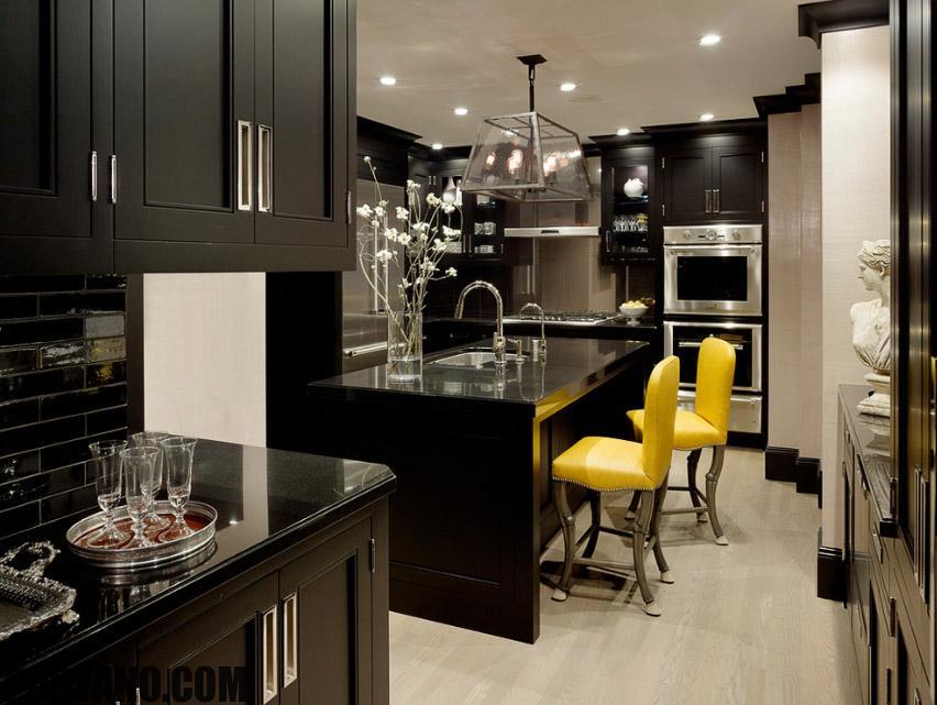 سایت پویانو-رنگ مشکی در دکوراسیون آشپزخانه