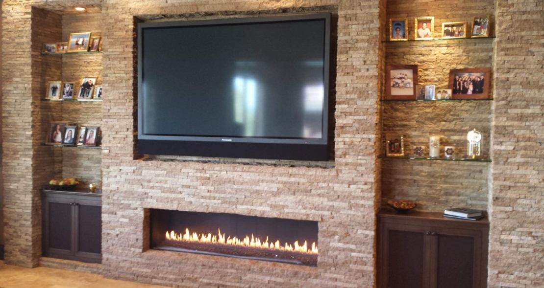 نصب تلویزیون بالای شومینه