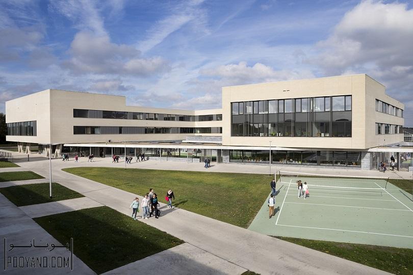 نوسازی و معماری مدرسه سبز و پایدار در Campus Peer ؛ شرکت معماری Bekkering Adams