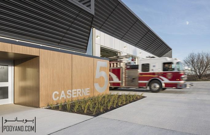 طراحی ایستگاه آتش نشانی شماره 5 / STGM Architectes + CCM2 Architectes