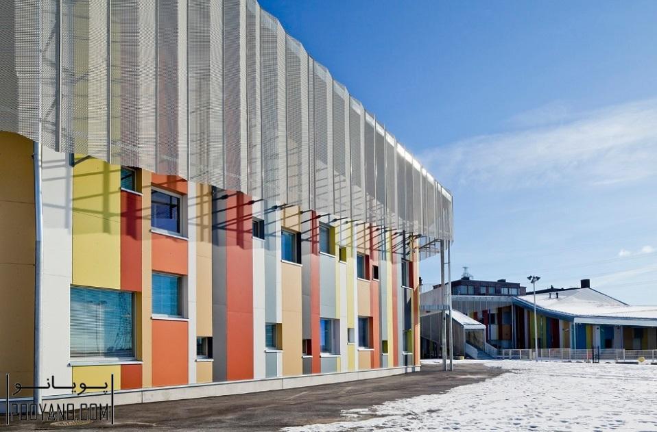 طراحی مدرسه و مهدکودک کالاساتاما / JKMM Architects ؛ طراحی مدرسه ؛ طراحی مهدکودک