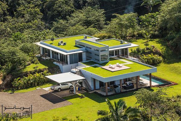 طراحی خانه با بام سبز ؛ 22 مدل فوق العاده از طراحی و معماری خانه با بام سبز