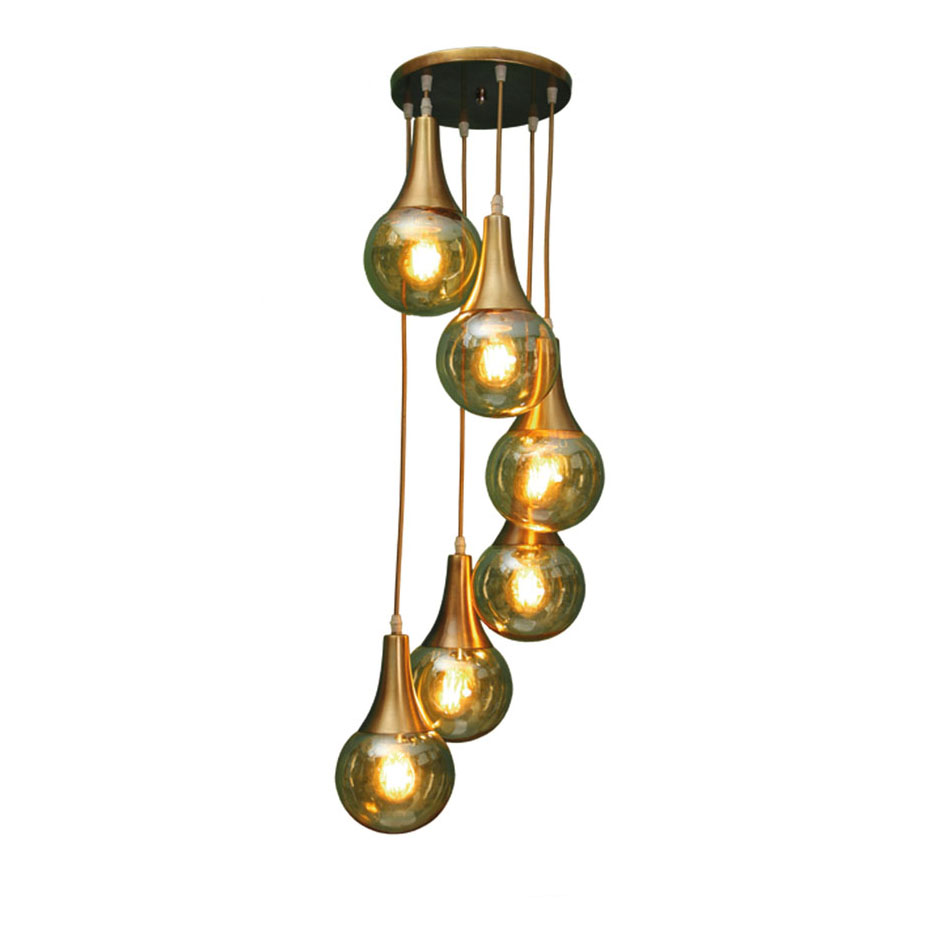 لوستر آویزی حبابی رستمی مدل 015