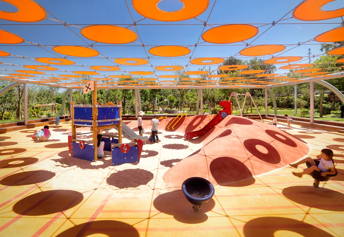 طراحی پارک بازی نیلی