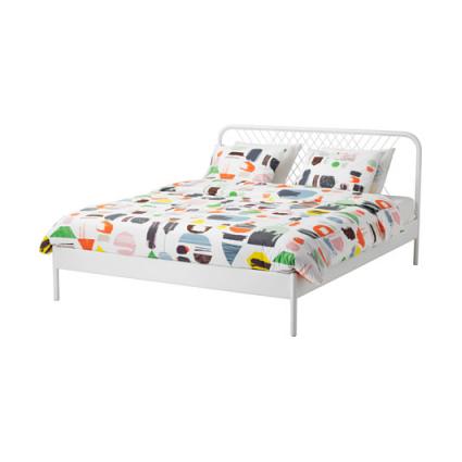 فریم تخت فلزی سفید IKEA ایکیا مدل NESTTUN