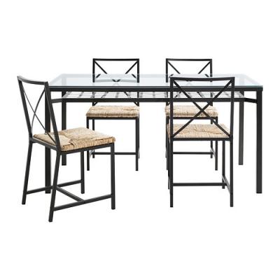 میز و صندلی 4 نفره فلزی ایکیا گراناس GRANAS