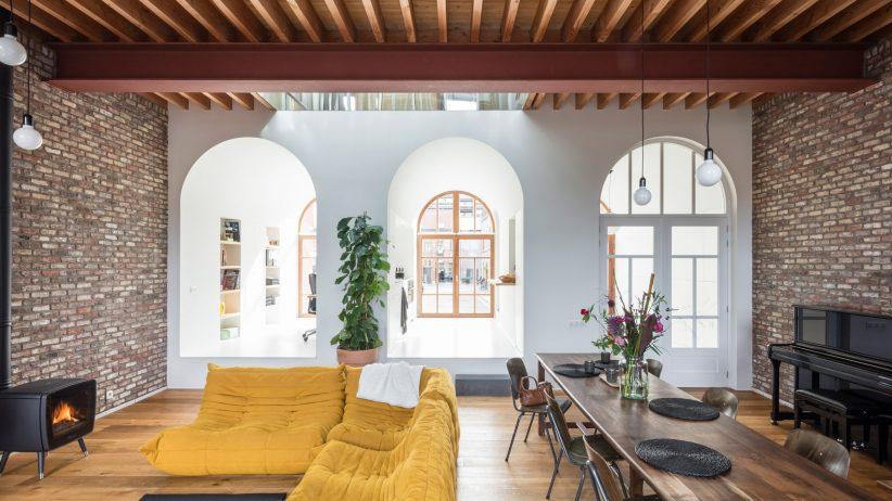 طراحی داخلی با سقف و طاق قوس دار