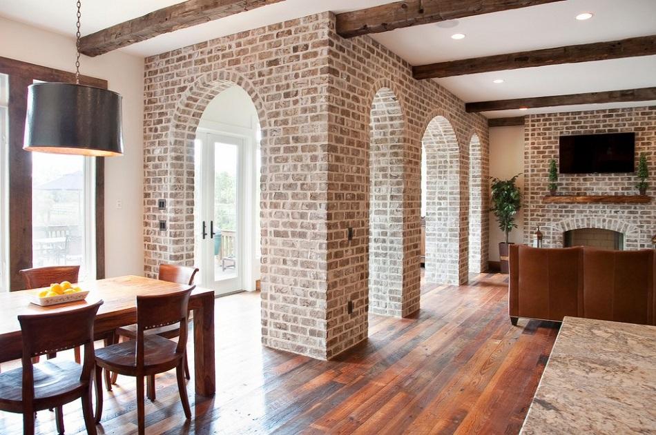 طراحی داخلی با سقف قوس دار