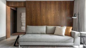 ترکیب چوب و مرمر در بازسازی آپارتمان