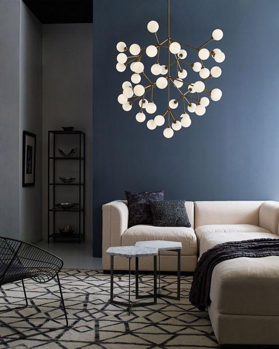 انتخاب چراغ و لوستر مناسب برای اتاق نشیمن