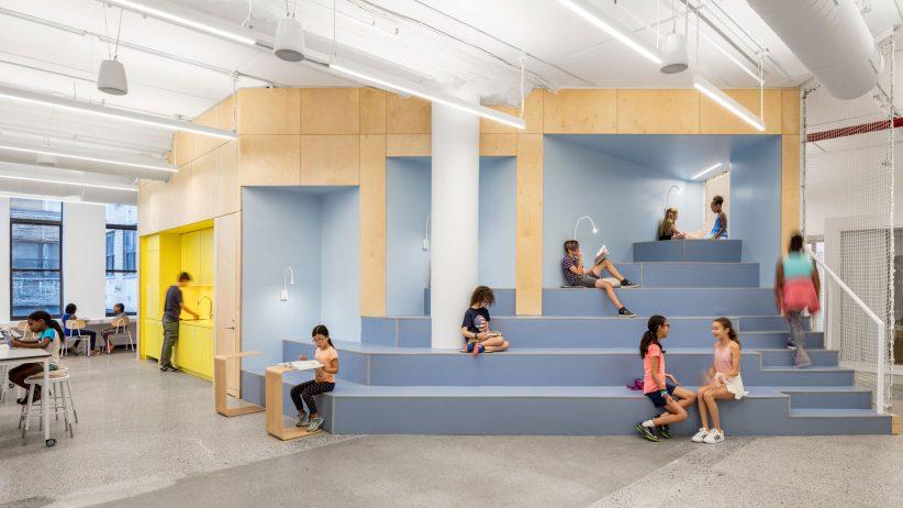 طراحی داخلی مدرسه با فضای رنگی این استارتاپ آموزشی
