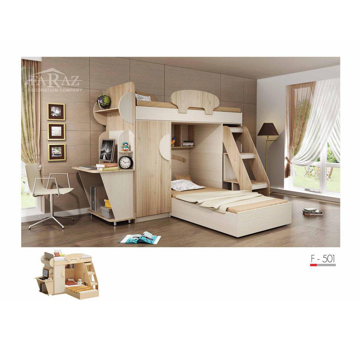 سرویس تخت خواب دوطبقه نوجوان مدل F-501