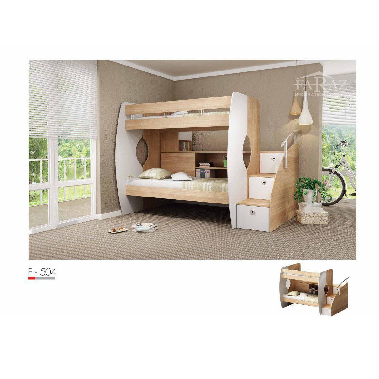 سرویس تخت خواب کم جا دو طبقه مدل F-504