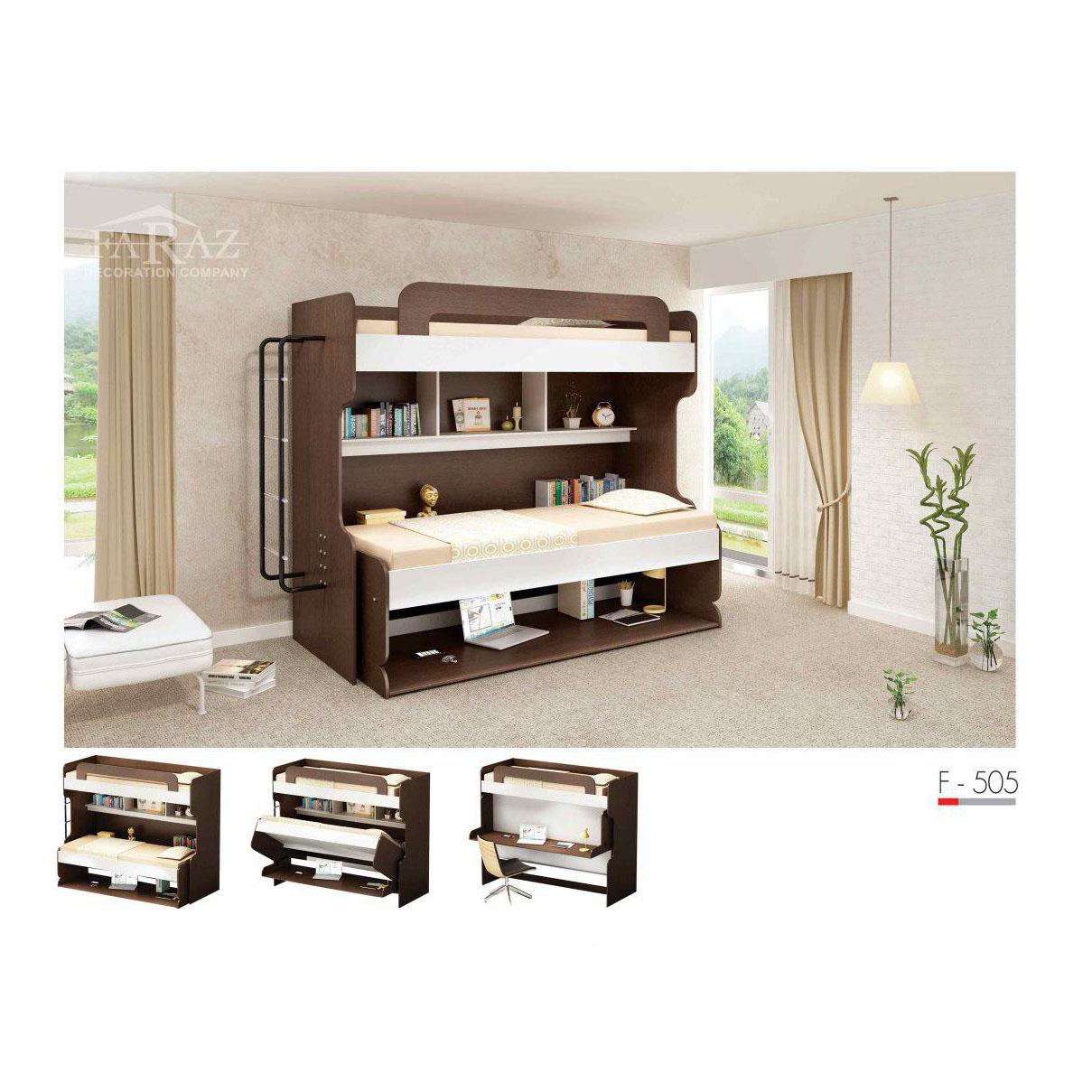 سرویس تخت خواب کم جا دوطبقه مدل F-505