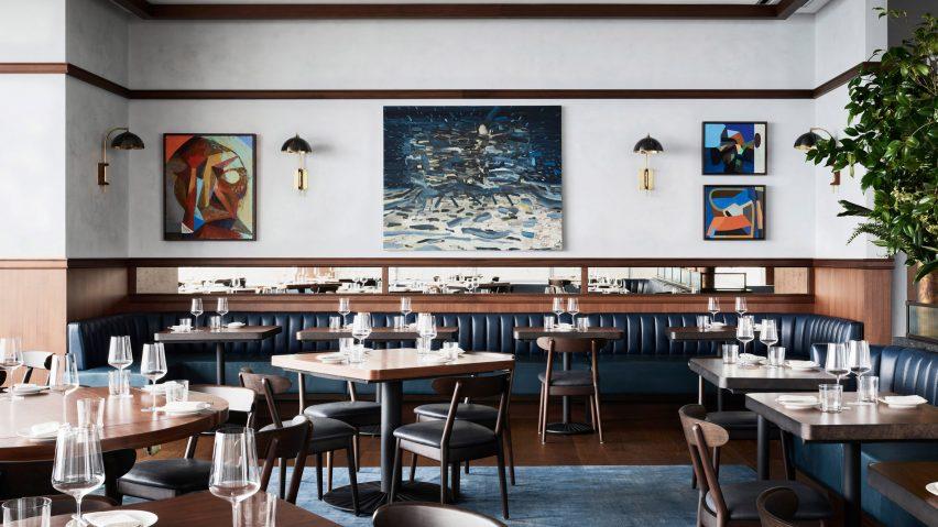 طراحی داخلی رستوران Manhatta