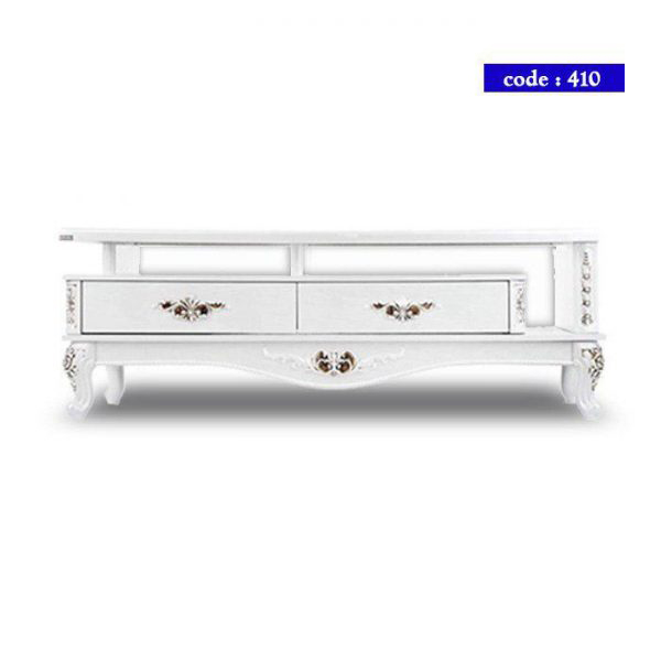 میز تلویزیون مدرن چوب کد 410 رنگ سفید