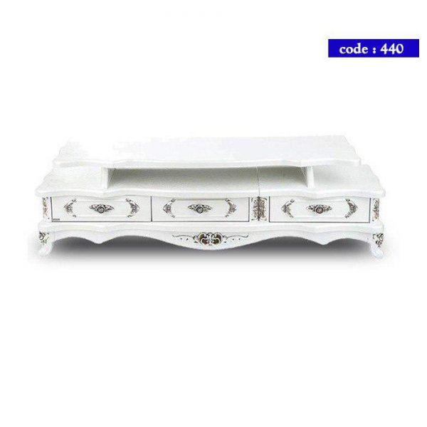 میز تلویزیون مدرن چوب کد 440 رنگ سفید