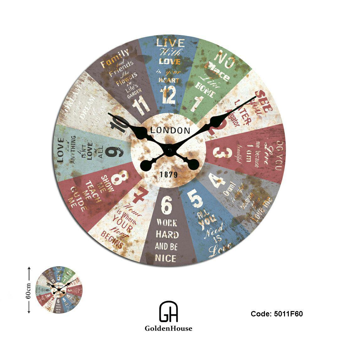 ساعت آنتیک پارچه ای گلدن هاوس مدل 5011F60